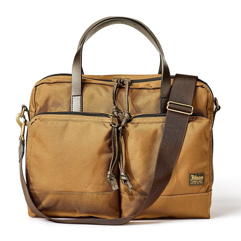 FILSON Dryden Briefcase Leather Messenger Bag FILSON Whiskey
