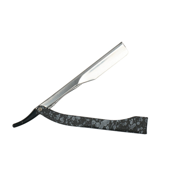 Focus R21 Inox Color Shavette Straight Razor, Stainless Steel, Made in Italy