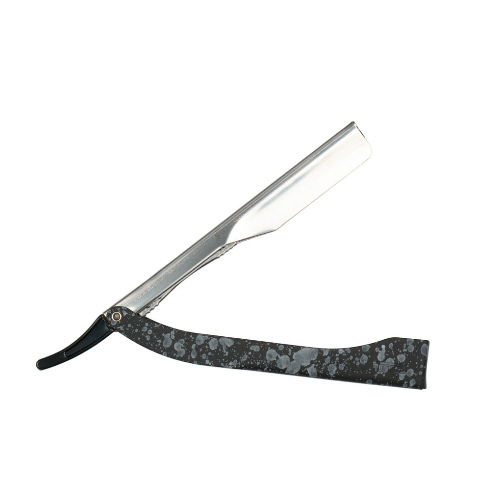Focus R21 Inox Color Shavette Straight Razor, Stainless Steel, Made in Italy Shavette Focus