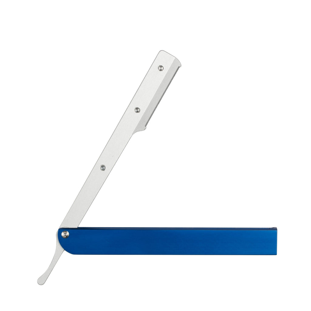 Focus Slim AL Aluminum Replaceable Blades Straight Razor, Made in Italy Shavette Focus