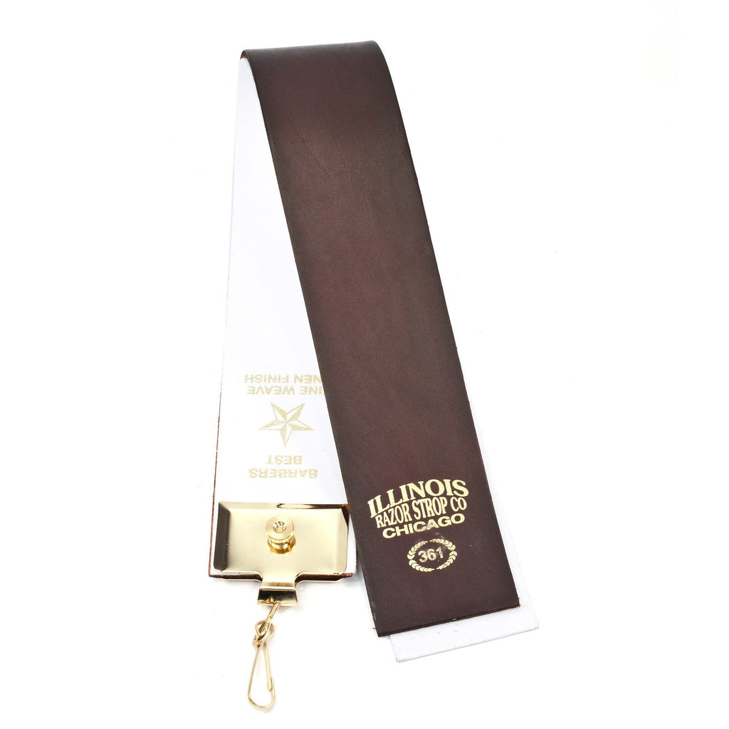 Illinois Razor Strop Co. 361 Hanging Razor Strop Leather Strop Illinois Strop Co