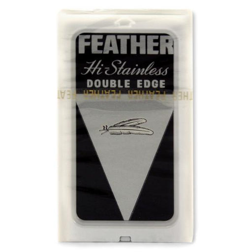 10 Black Feather Double-Edge Safety Razor Blades - Fendrihan Canada