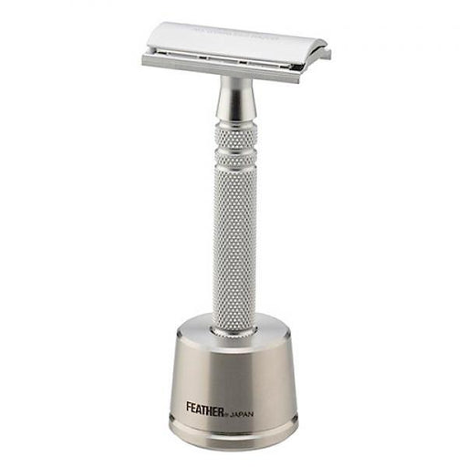 Feather AS-D2S Stainless Steel Double Edge Razor and Stand, Made in Japan - Fendrihan Canada - 1