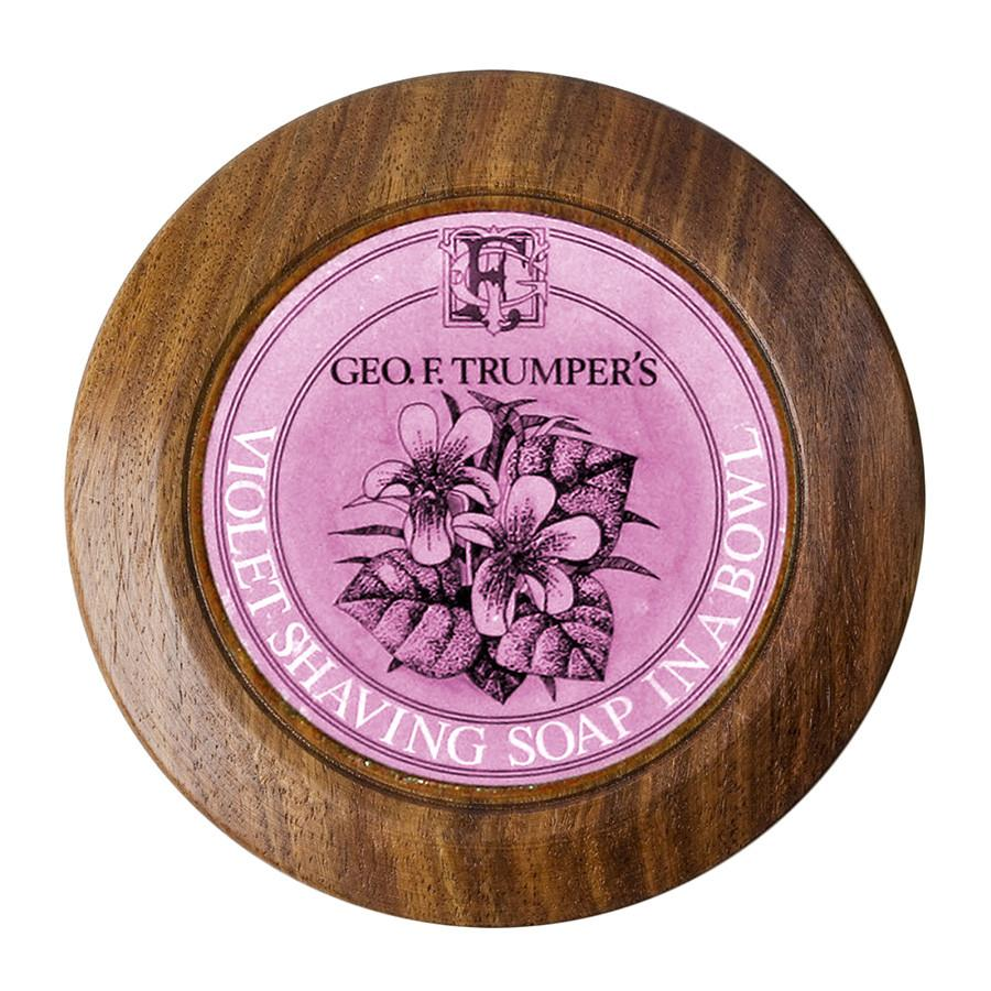 Geo. F. Trumper Violet Shaving Soap with Wooden Bowl Shaving Soap Geo F. Trumper