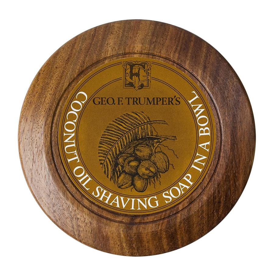 Geo. F. Trumper Coconut Shaving Soap with Wooden Bowl Shaving Soap Geo F. Trumper