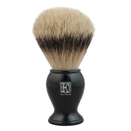 Geo. F. Trumper Large Super Badger Shaving Brush, Black Handle - Fendrihan Canada