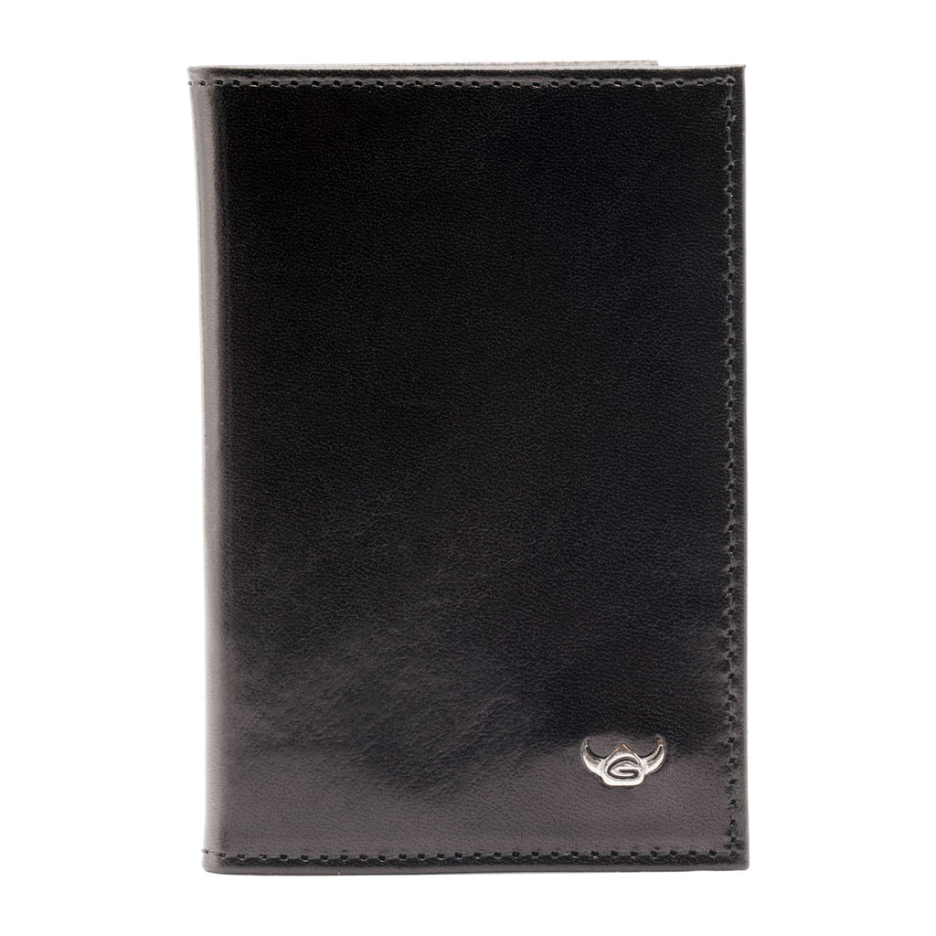 Golden Head Colorado Eco-Tanned Card Case, RFID Protect Leather Wallet Golden Head Black