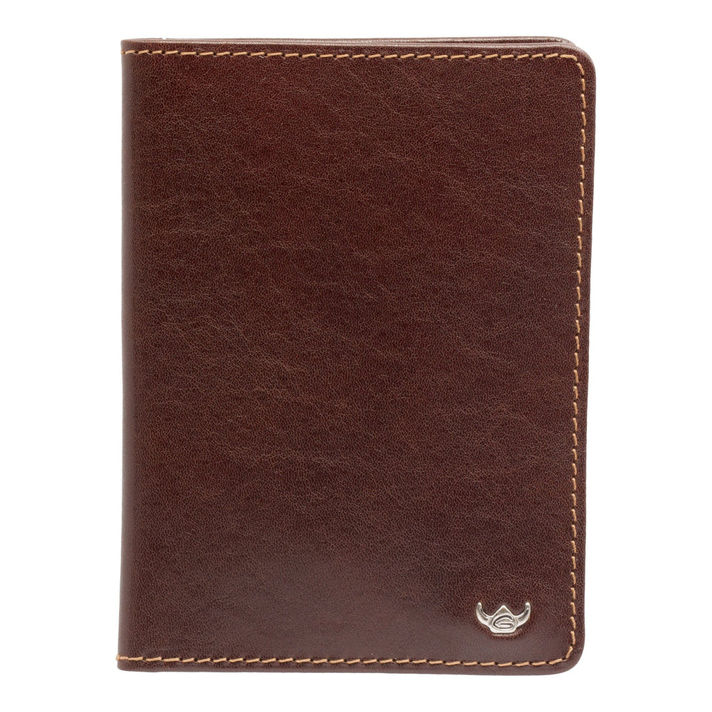 Golden Head Colorado Eco-Tanned 3 CC Leather ID Wallet Leather Wallet Golden Head Tobacco