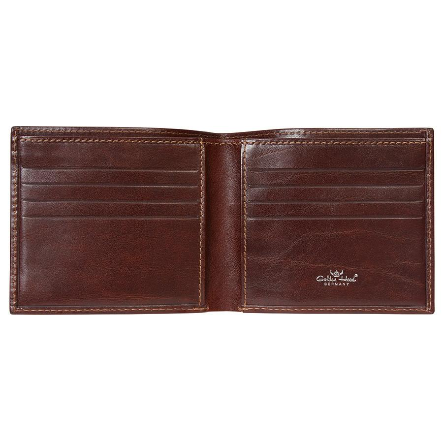 Golden Head Colorado Eco-Tanned Italian Leather Billfold with 8 Credit Card Slots Leather Wallet Golden Head