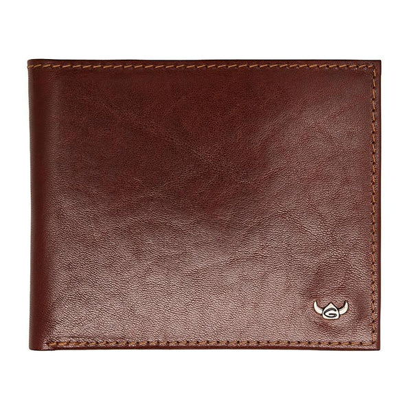 Golden Head Colorado Eco-Tanned Italian Leather Wallet with Coin Purse and 3 CC Slots, Tobacco - Fendrihan Canada - 2