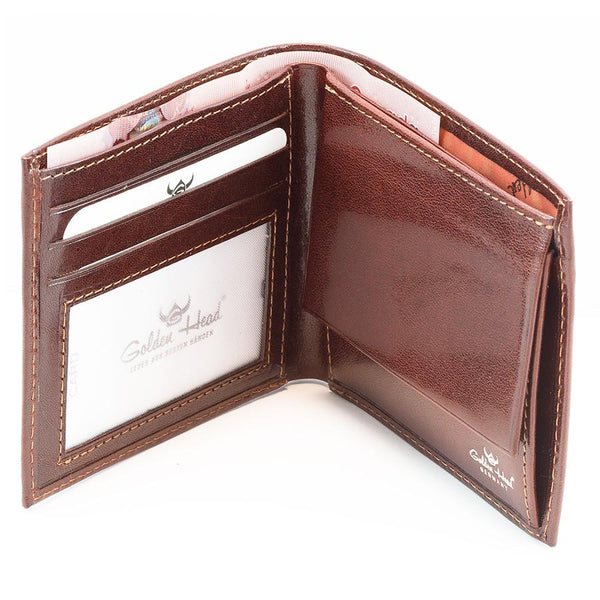 Golden Head Colorado Eco-Tanned Italian Leather Wallet with Coin Purse and 3 CC Slots, Tobacco - Fendrihan Canada - 1