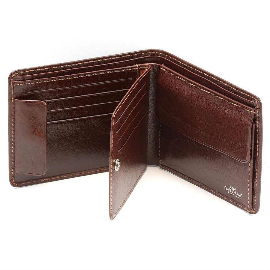 Golden Head Colorado Billfold Leather Wallet with Coin Purse and 8 CC Slots Leather Wallet Golden Head Tobacco