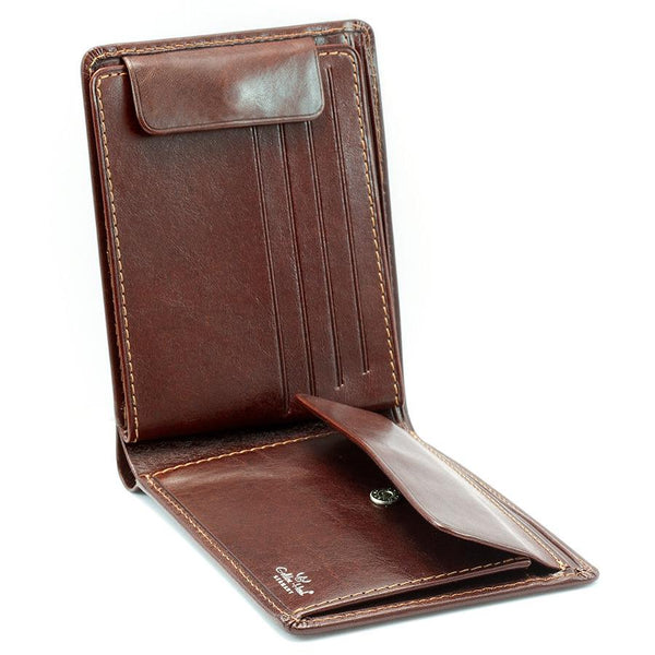Golden Head Colorado RFID Protect Leather Wallet with Coin Pocket and 8 CC Slots, Tobacco - Fendrihan Canada - 3