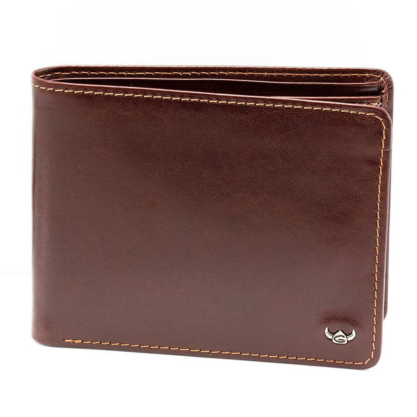 Golden Head Colorado RFID Protect Leather Wallet with Coin Pocket and 8 CC Slots, Tobacco - Fendrihan Canada - 4