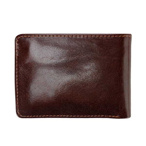 Golden Head Colorado Vegetable-Tanned 2 CC Mini Leather Wallet with Coin Pocket, Tobacco - Fendrihan Canada - 3