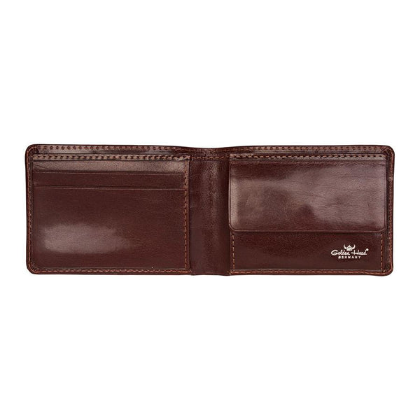 Golden Head Colorado Vegetable-Tanned 2 CC Mini Leather Wallet with Coin Pocket, Tobacco - Fendrihan Canada - 1