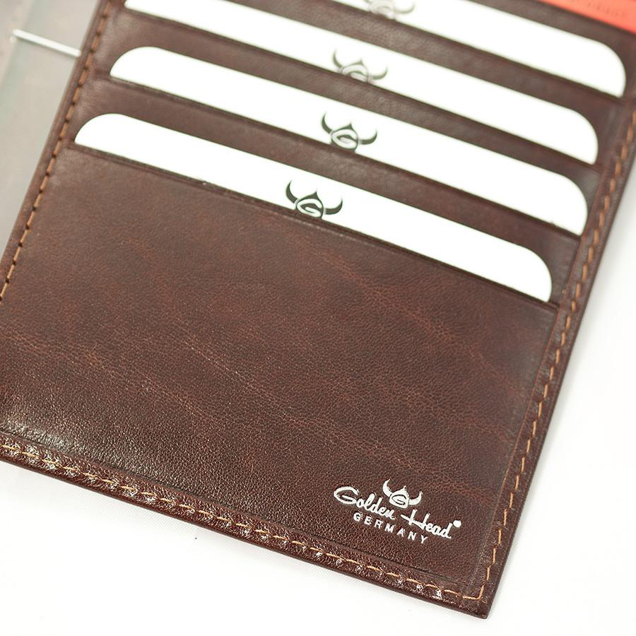Golden Head Colorado Leather Billfold with 10 Credit Card Slots, Tobacco - Fendrihan Canada - 4