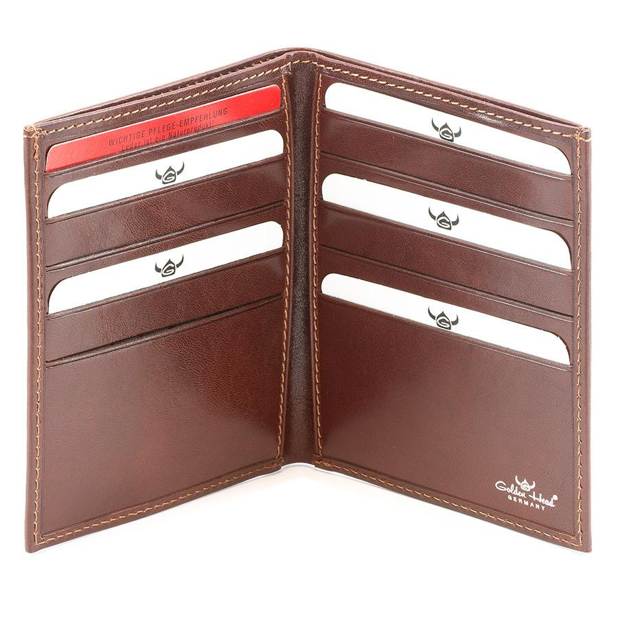 Golden Head Colorado Leather Billfold with 10 Credit Card Slots, Tobacco - Fendrihan Canada - 2