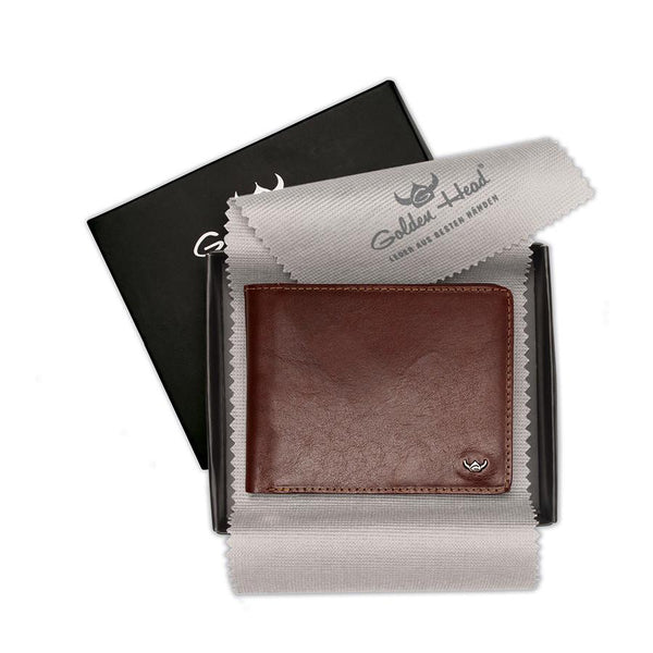 Golden Head Colorado Eco-Tanned Italian Leather Wallet with Coin Purse and 7 CC Slots, Tobacco - Fendrihan Canada - 4