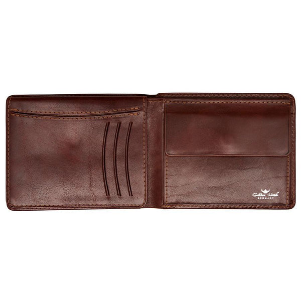 Golden Head Colorado Eco-Tanned Italian Leather Wallet with Coin Purse and 7 CC Slots, Tobacco - Fendrihan Canada - 2