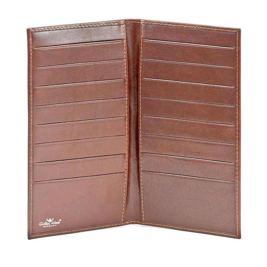 Golden Head Colorado Coat Leather Wallet with 16 Credit Card Slots Leather Wallet Golden Head Tobacco
