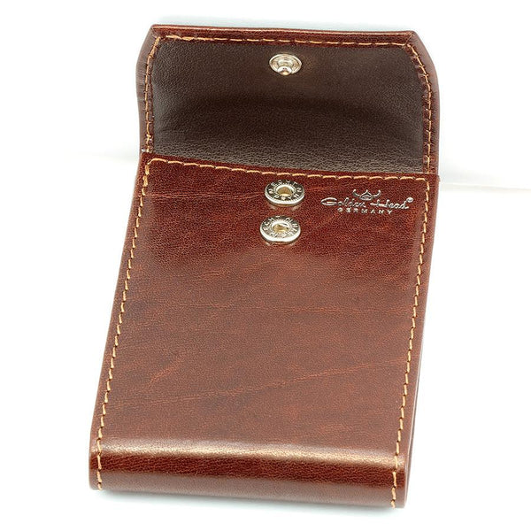 Golden Head Colorado Eco-Tanned Italian Leather 10-Pocket Business Card Case, Tobacco - Fendrihan Canada - 3