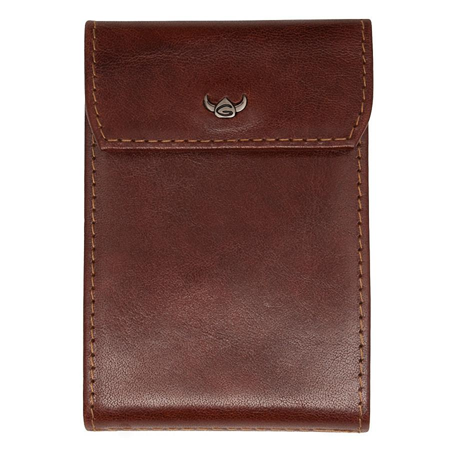 Golden Head Colorado Eco-Tanned Italian Leather 10-Pocket Business Card Case, Tobacco - Fendrihan Canada - 1