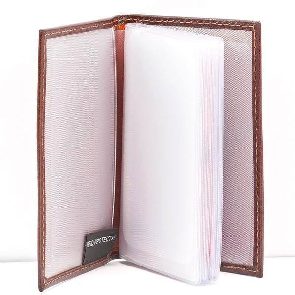 Golden Head Colorado Eco-Tanned Card Case, RFID Protect Leather Wallet Golden Head