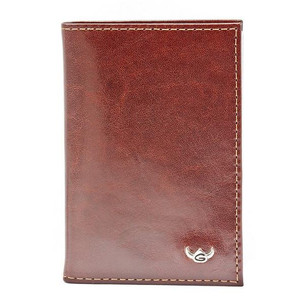 Golden Head Colorado Eco-Tanned Card Case, RFID Protect Leather Wallet Golden Head Tobacco