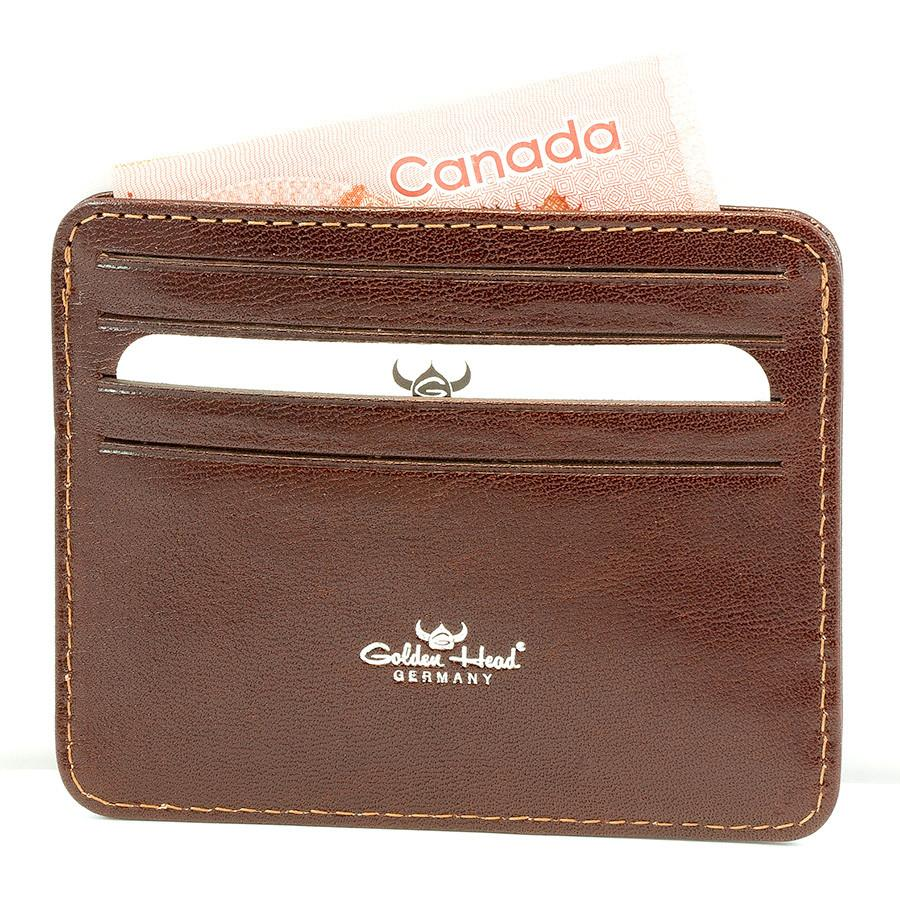 Golden Head Colorado Eco-Tanned Italian Leather 8-Pocket Credit Card Case Leather Wallet Golden Head Tobacco