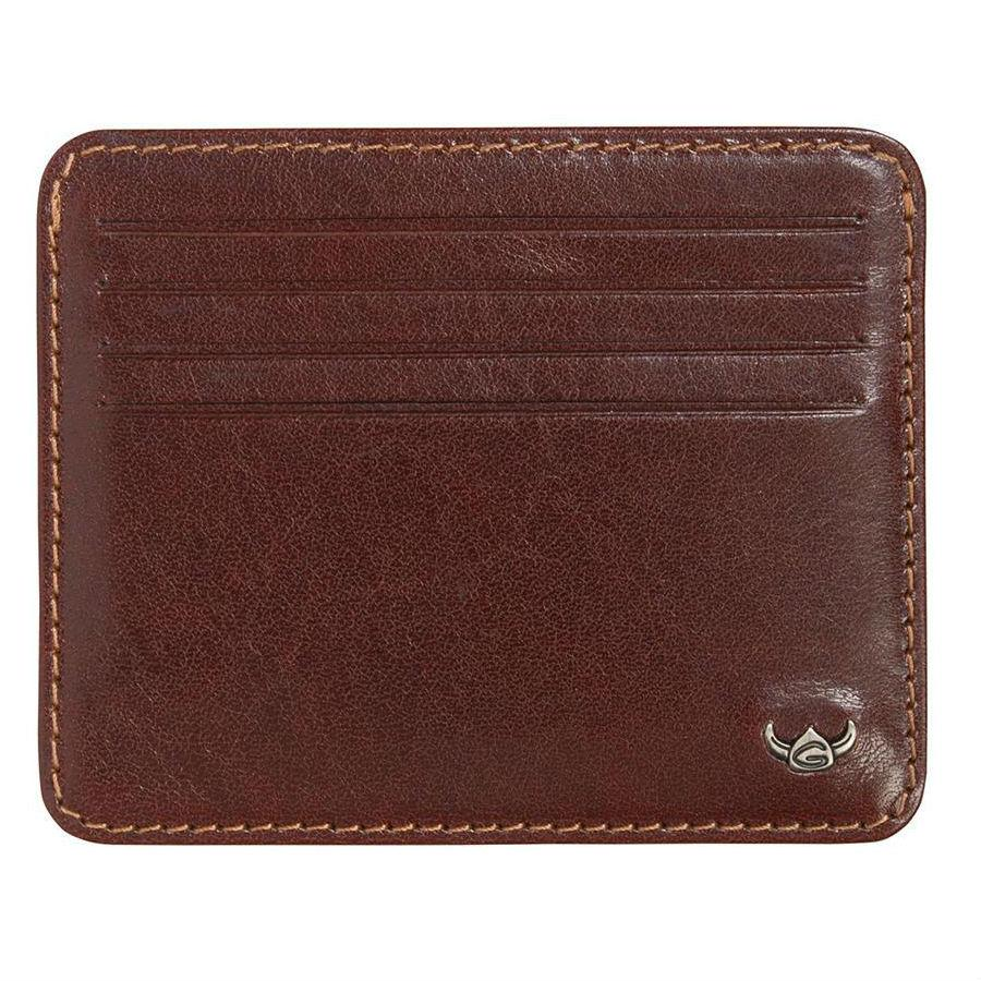 Golden Head Colorado Eco-Tanned Italian Leather 8-Pocket Credit Card Case Leather Wallet Golden Head