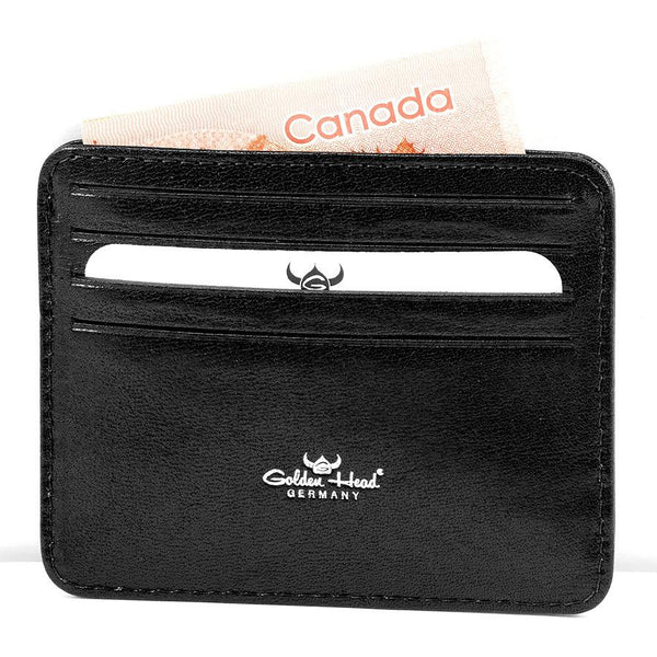 Golden Head Colorado Eco-Tanned Italian Leather 8-Pocket Credit Card Case - Fendrihan Canada - 4