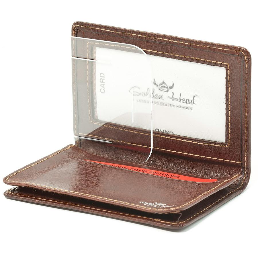 Golden Head Colorado Leather Business Card Case, Tobacco - Fendrihan ...
