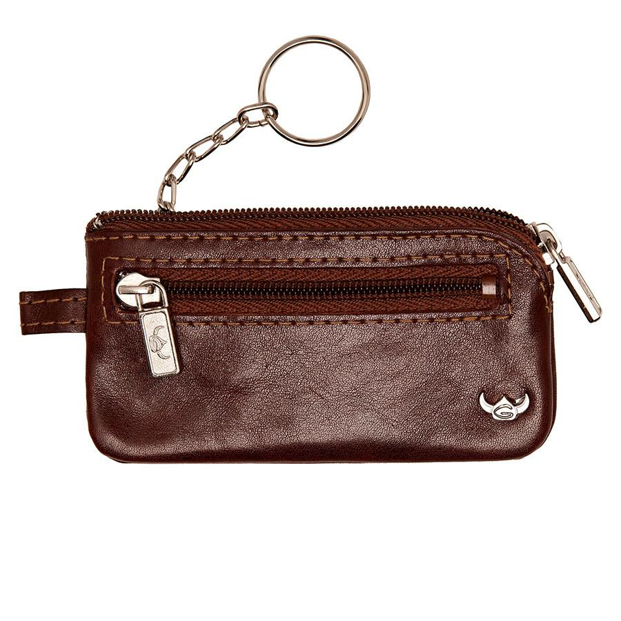 Golden Head Colorado Leather Zippered Key Holder Key Case Golden Head Tobacco