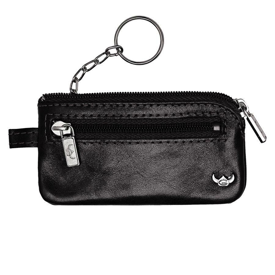Golden Head Colorado Leather Zippered Key Holder Key Case Golden Head Black