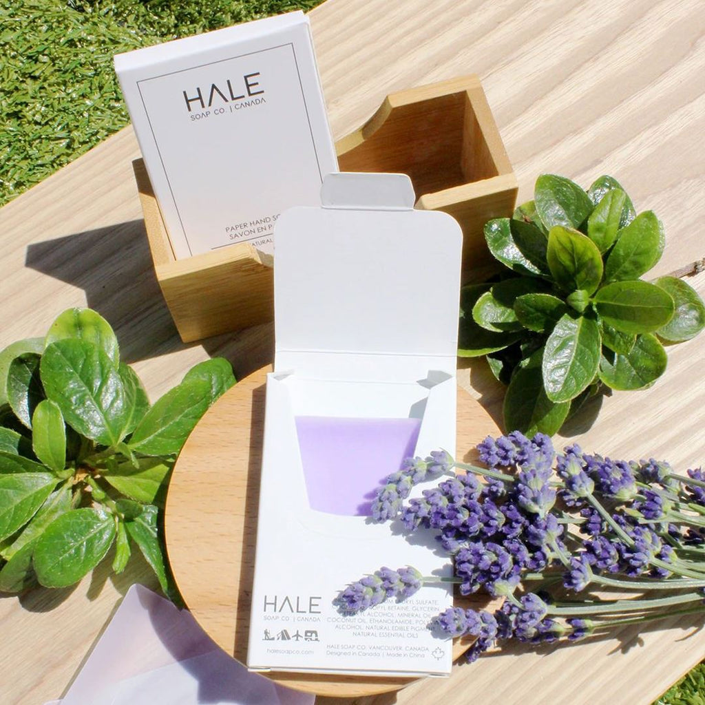 Hale Soap Co Paper Soap Bar Specialty Soap Hale Soap Co Calm Lavender