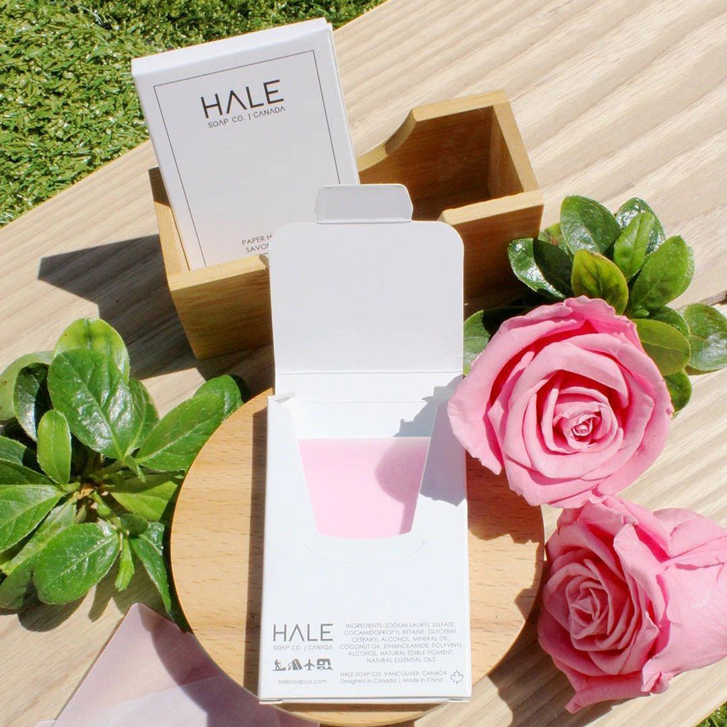 Hale Soap Co Paper Soap Bar Specialty Soap Hale Soap Co Wild Rose