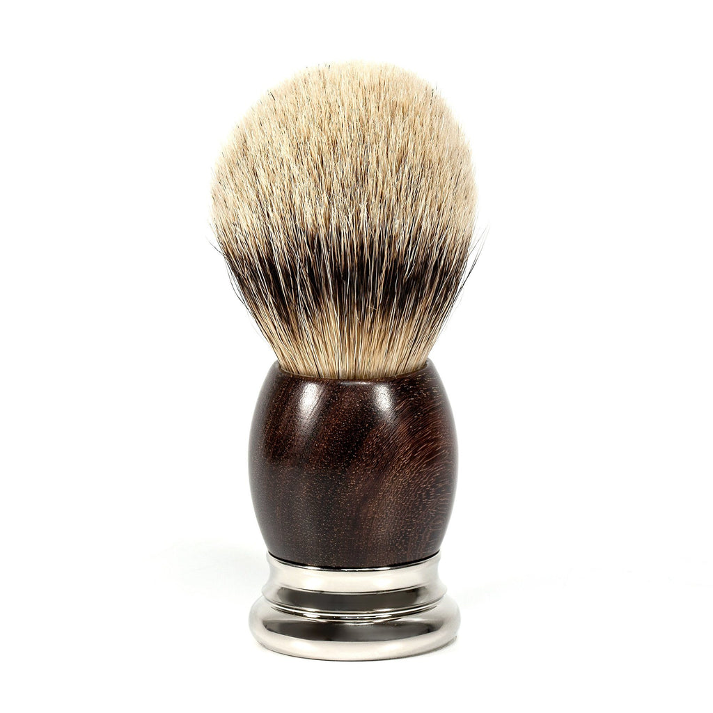 H.L. Thater 4292 Precious Woods Series Silvertip Shaving Brush with Coraçao de Negro Handle, Size 6 Badger Bristles Shaving Brush Heinrich L. Thater
