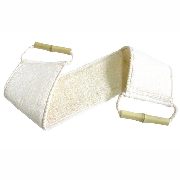 Hydrea London Bamboo and Loofah Exfoliator Back Strap - Fendrihan Canada - 1