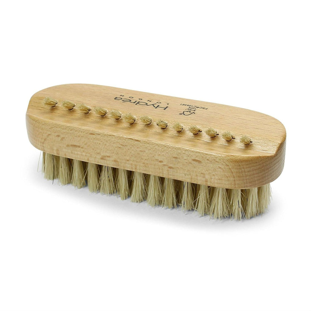 Hydrea London Dual-Sided 100% FSC Wood Nail Brush with Natural Bristles Nail Brush The Natural Sea Sponge Co