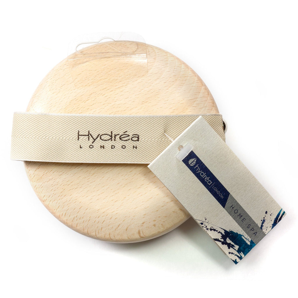 Hydrea London Beechwood Detox Brush with Pure Bristle and Rubber Nodules Bath Brush The Natural Sea Sponge Co