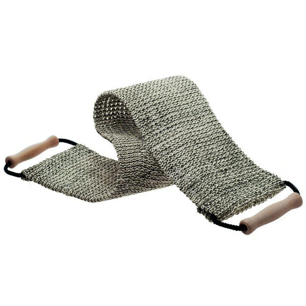Hydrea London Black and Cream Natural Massage Sisal Strap - Fendrihan Canada - 1