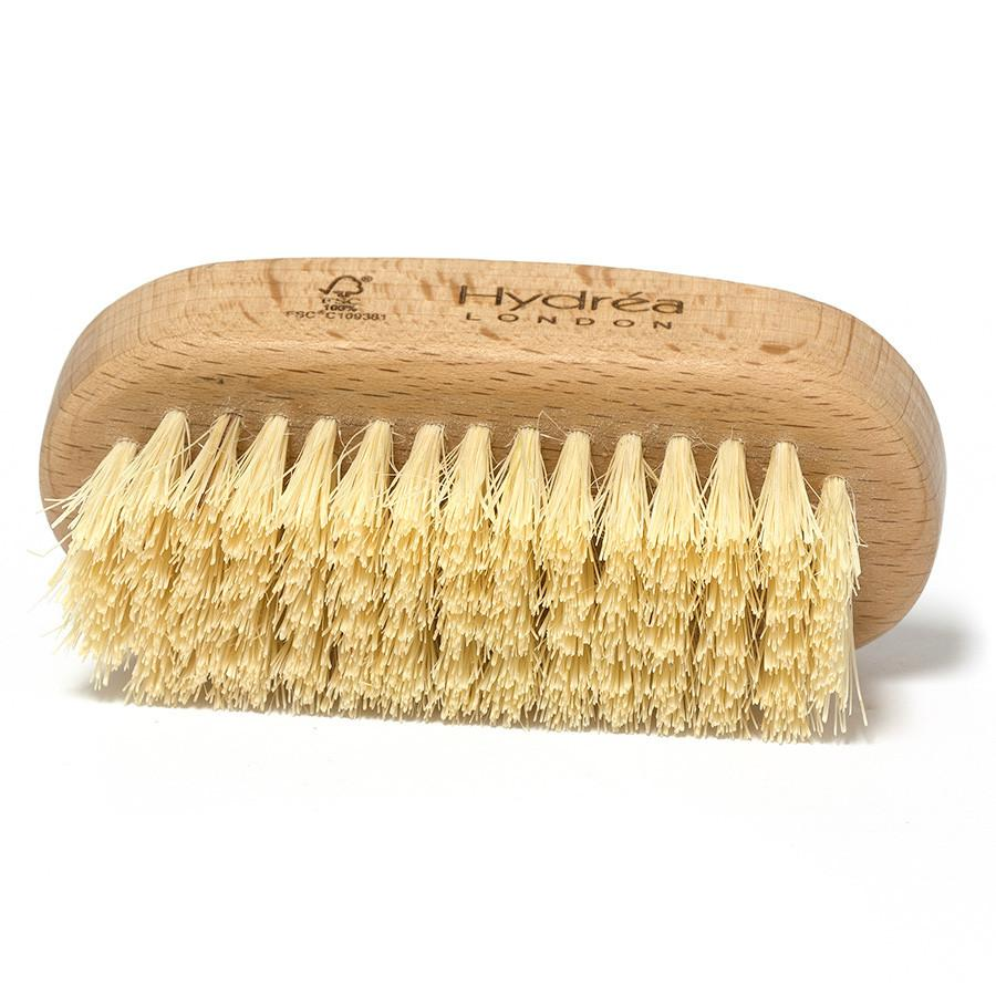 Hydrea London Dual-Sided 100% FSC Wood Nail Brush with Cactus Bristle, Large Nail Brush The Natural Sea Sponge Co