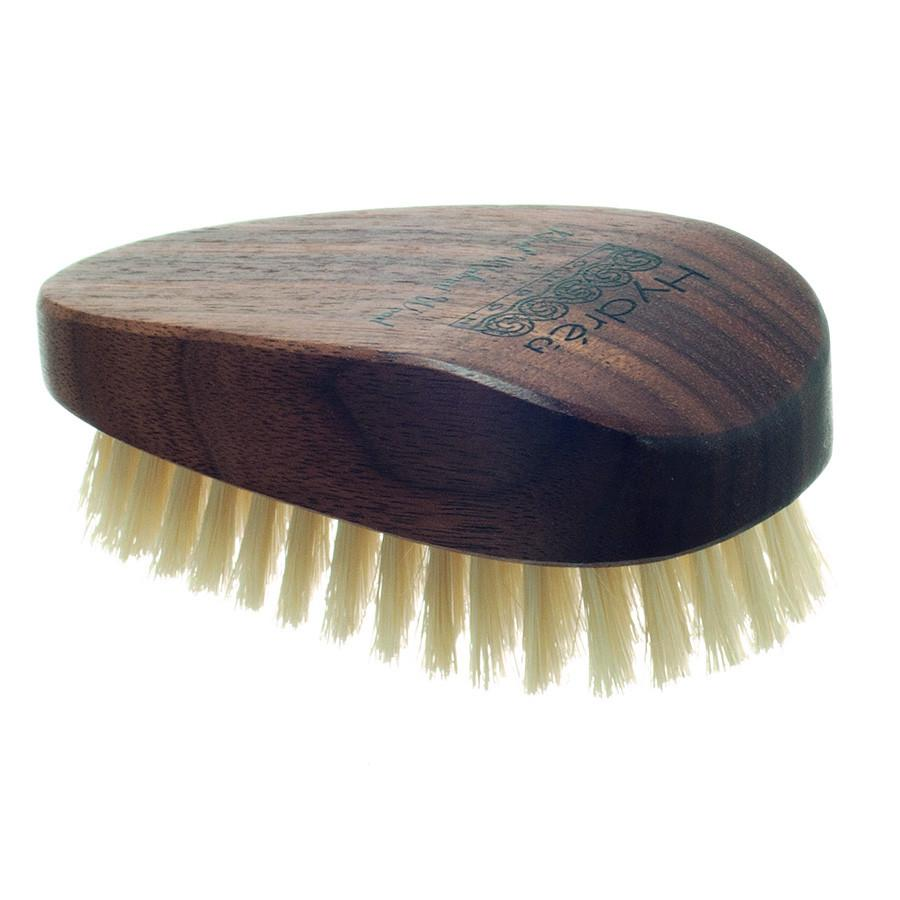 Hydrea London Walnut Wood Nail Brush with Natural Bristle Nail Brush The Natural Sea Sponge Co