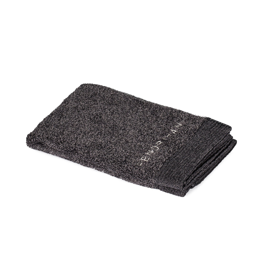 Fendrihan by Ikeuchi Organic 960 Cotton Washcloth, Charcoal