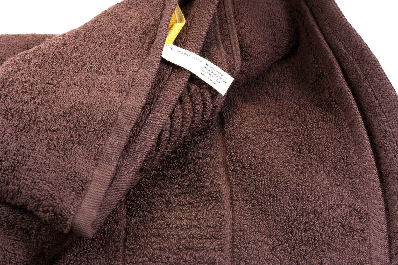Ikeuchi Organic 316 Cotton Towel, Dark Brown Towel Ikeuchi