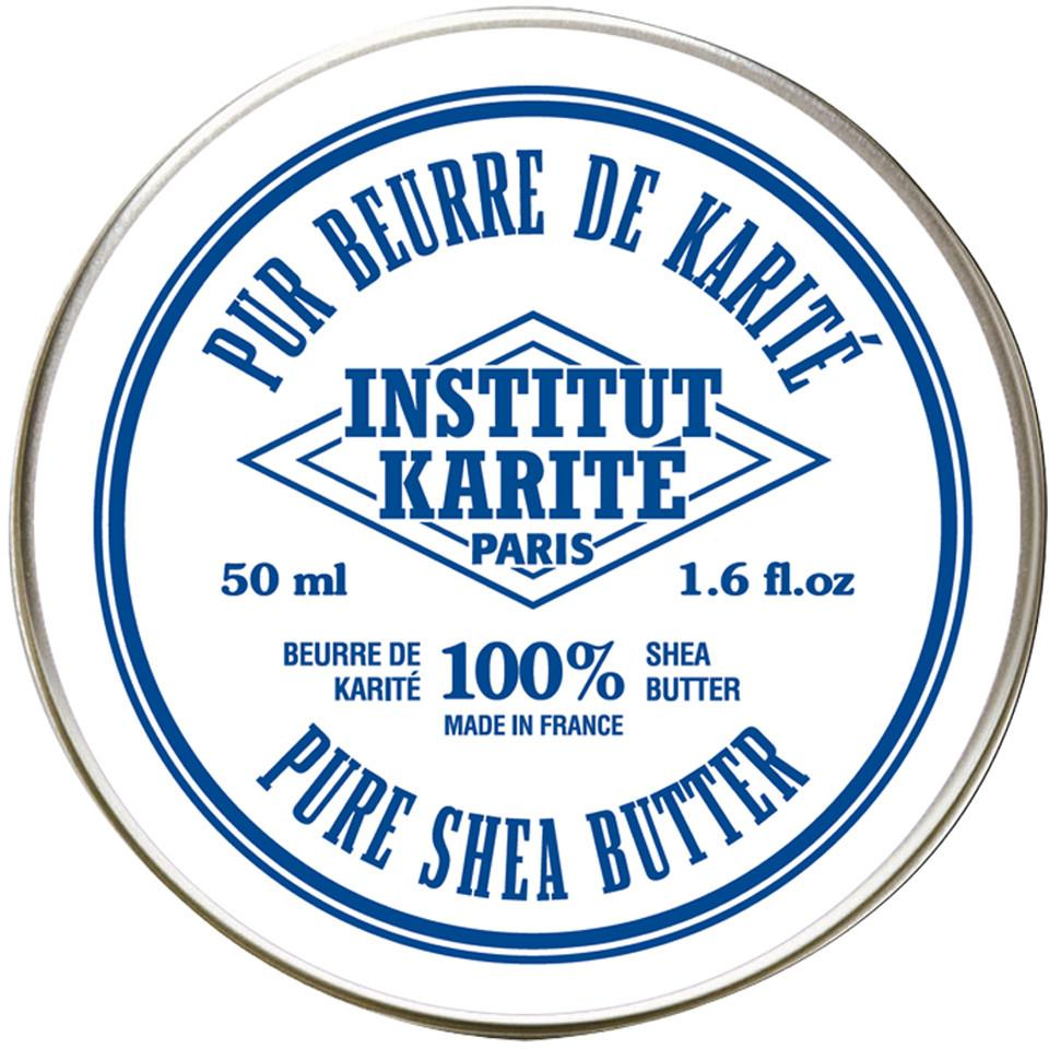 Institut Karite 100% Shea Butter For Hands, Lips, Face, Body and Hair, Fragrance Free Lip Balms Institut Karite 50 ml