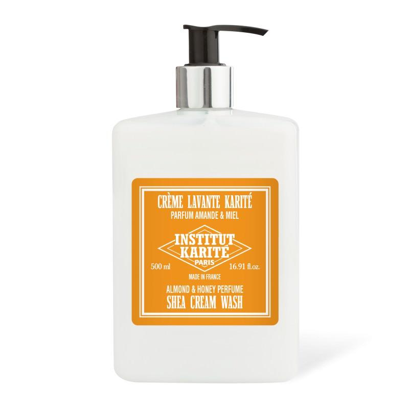 Institut Karite 25% Shea Butter Cream Bath and Shower Extra Gentle Wash, Almond and Honey Men's Body Wash Institut Karite