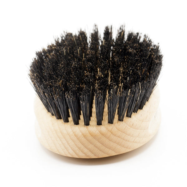 Men's Beechwood Military Hairbrush with Pure Soft or Wild Boar Bristles - Made in Germany - Fendrihan Canada - 3