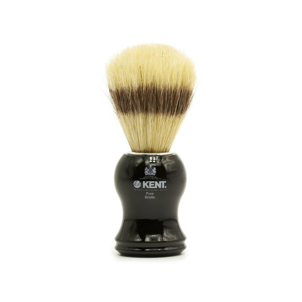 Kent Visage VS60 Pure Bristles with Badger Effect Shaving Brush, Black Handle - Fendrihan Canada - 1
